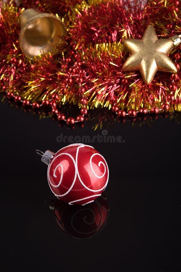 De ornamenten van de kerstboom stock afbeeldingen