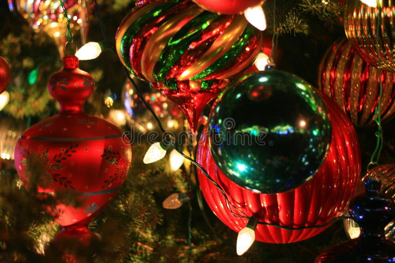 De Ornamenten van de kerstboombal royalty-vrije stock foto's