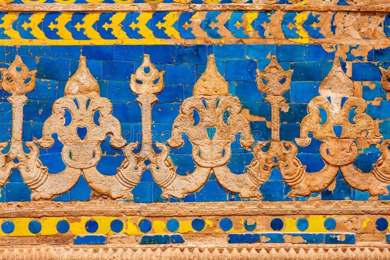 De ornamenten van de muur. Het Fort van Gwalior royalty-vrije stock foto