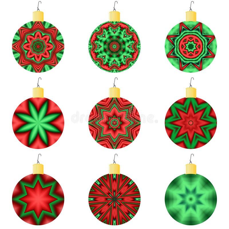 De Ornamenten van de vakantie stock illustratie