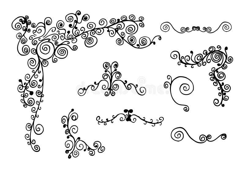 De ornamenten van de werveling royalty-vrije illustratie