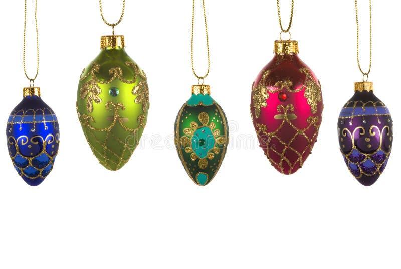 De Ornamenten van het glas stock afbeeldingen
