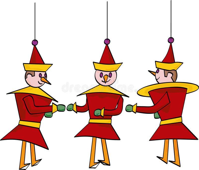De Ornamenten van het stuk speelgoed stock illustratie