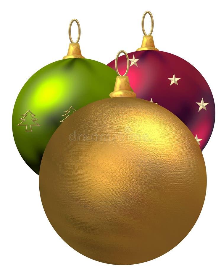De Ornamenten van Kerstmis vector illustratie