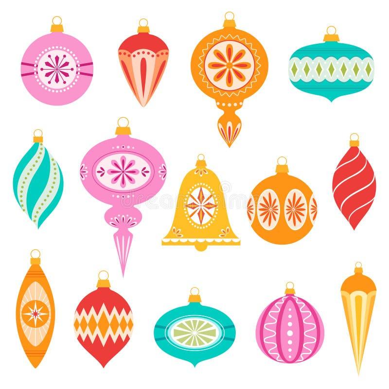 De ornamenten van Kerstmis royalty-vrije illustratie