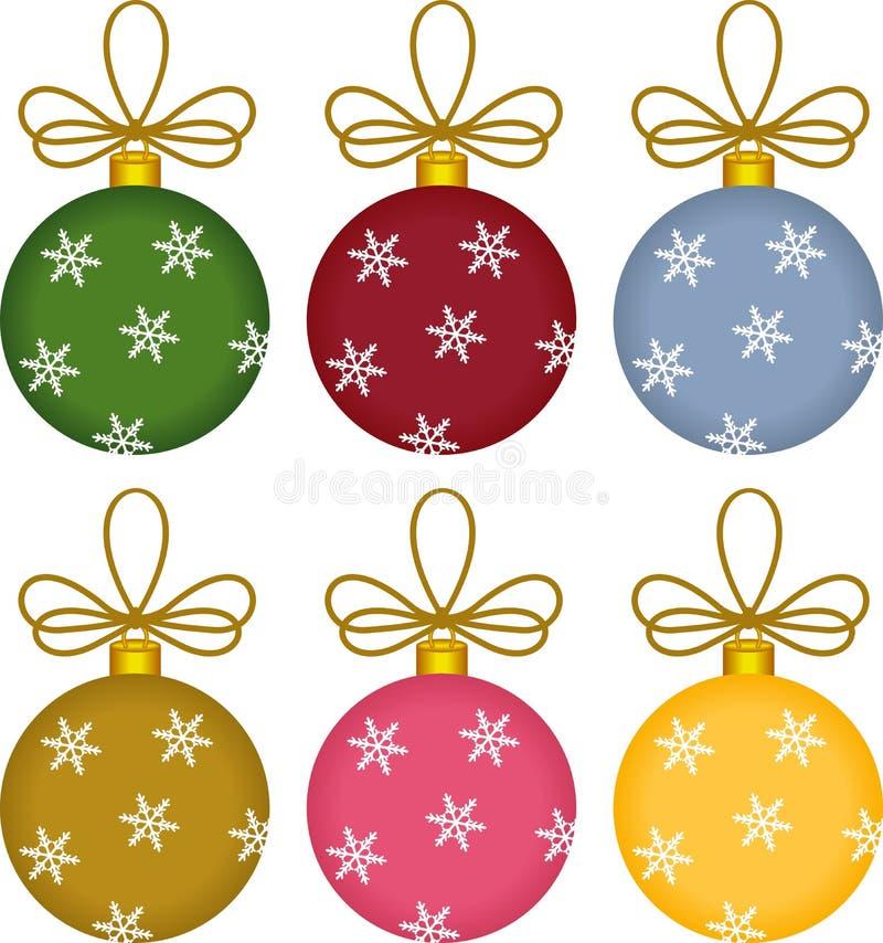 De Ornamenten van Kerstmis van de Bal van het glas vector illustratie