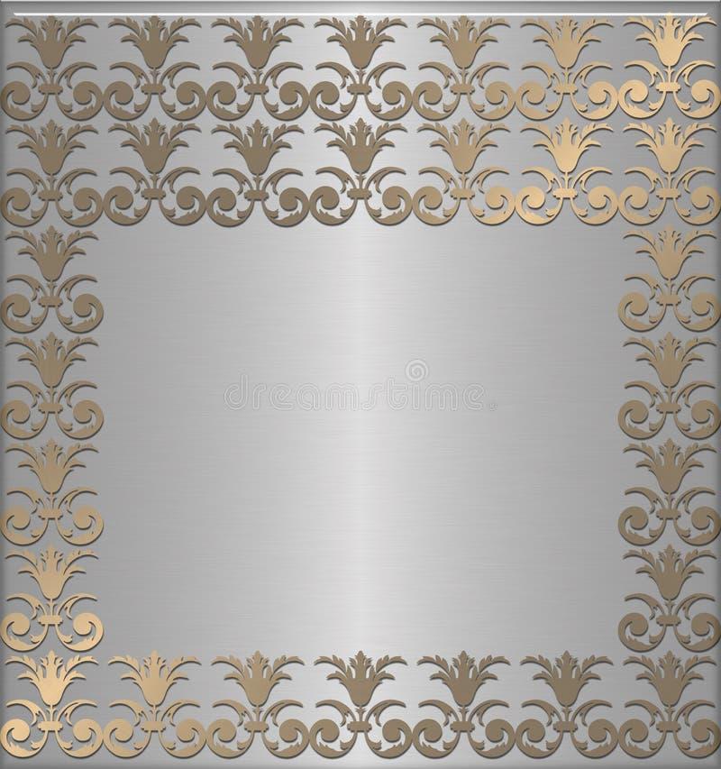 De oro con platino ilustración del vector