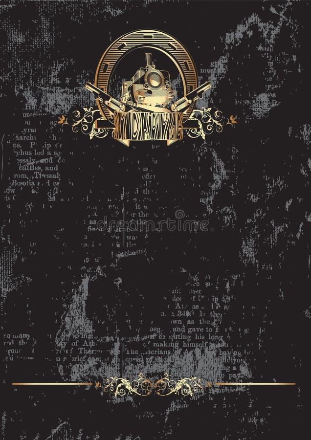 De oro del oeste salvaje stock de ilustración
