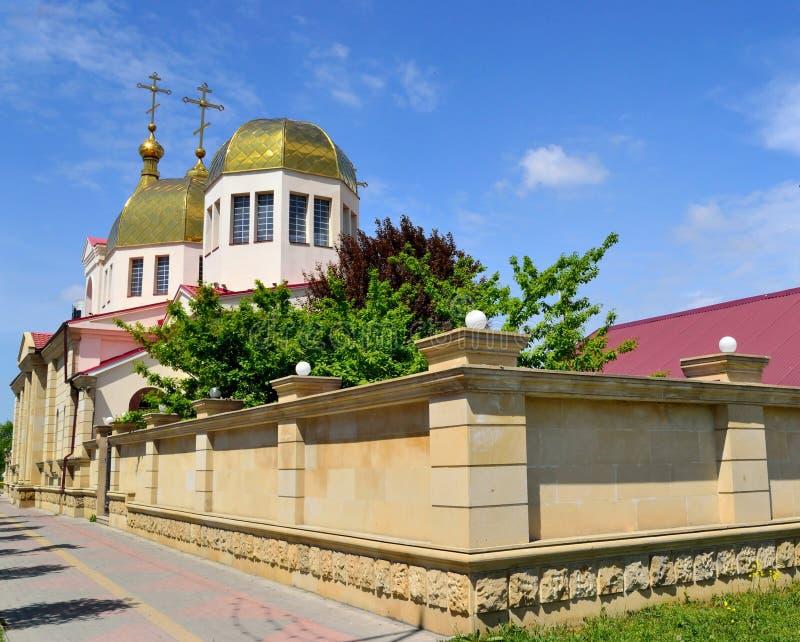 De Orthodoxe kerk in Grozny stock afbeelding