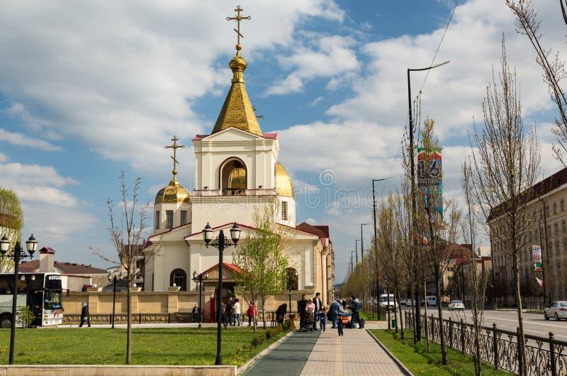 De Orthodoxe Kerk van Michael de Aartsengel Grozny, Tchetchenië royalty-vrije stock fotografie