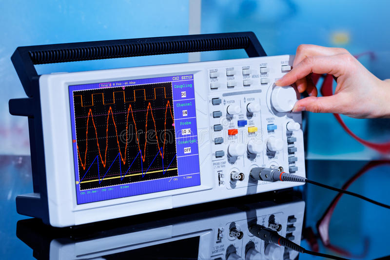 Oscilloscoop stock afbeeldingen