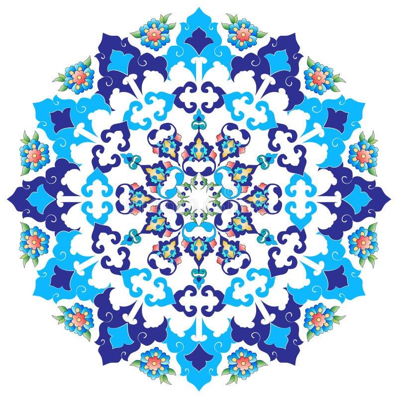 De ottomanekunst bloeit dertien stock illustratie