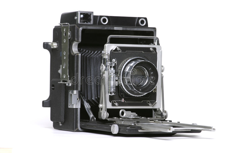 De oude 4x5 Camera van de Film stock foto's