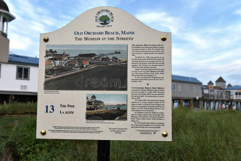 De oude aantrekkelijkheid van Maine de V.S. van de stadstaat van het boomgaardstrand stock fotografie