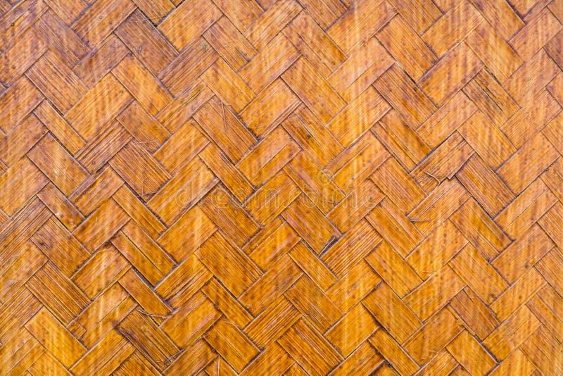 De oude achtergrond van de het weefseltextuur van het handcraftbamboe stock afbeeldingen