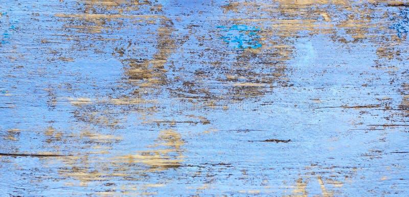 De oude achtergrond van de grunge rustieke houten textuur met blauwe kleur barstte doorstane verf en krassen royalty-vrije stock foto