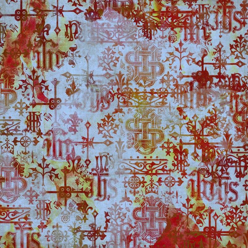 De oude Achtergrond van het Alfabet stock afbeelding