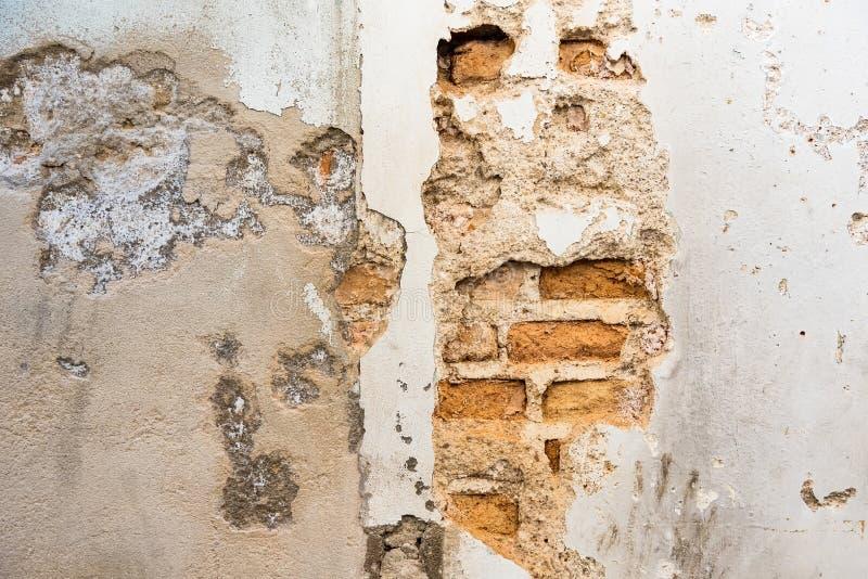 De oude oude achtergrond of de achtergrond van de muurtextuur grunge stock afbeeldingen