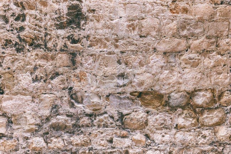 De oude Achtergrond van de Steenmuur royalty-vrije stock afbeeldingen