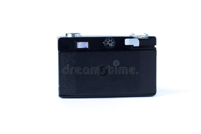 De oude achterkant van de filmcamera Wit Close-up als achtergrond Uitstekende Foto royalty-vrije stock foto's