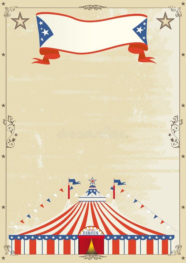 De oude affiche van het Circus grunge. royalty-vrije illustratie