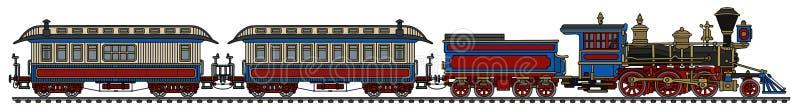 De oude Amerikaanse wilde trein van de het westenstoom royalty-vrije illustratie