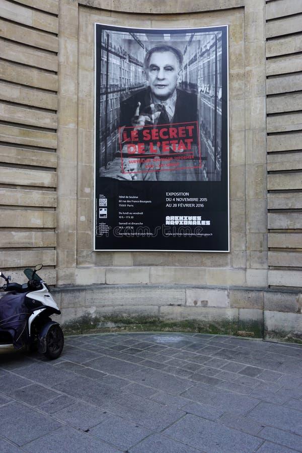 De oude Archieven Nationales (Algemeen Rijksarchief) van Frankrijk in Parijs stock afbeeldingen