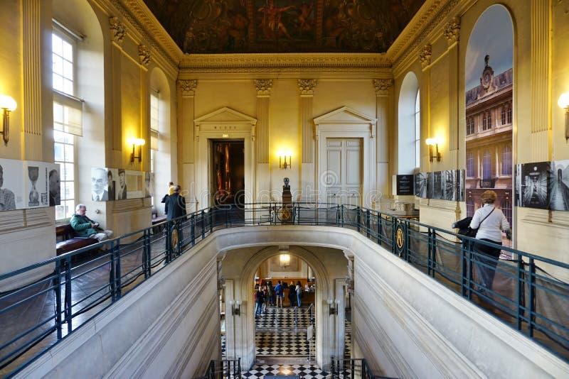 De oude Archieven Nationales (Algemeen Rijksarchief) van Frankrijk in Parijs stock foto