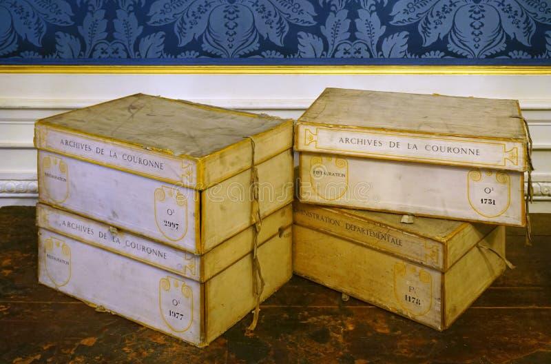 De oude Archieven Nationales (Algemeen Rijksarchief) van Frankrijk in Parijs royalty-vrije stock foto