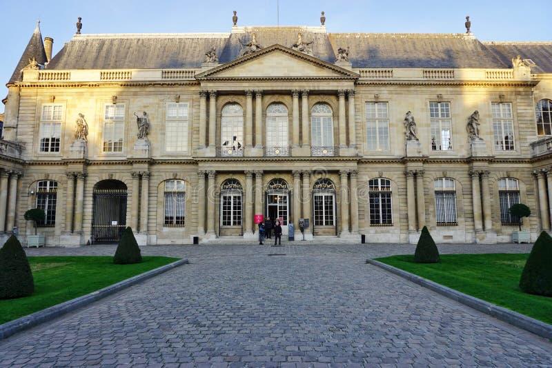 De oude Archieven Nationales (Algemeen Rijksarchief) van Frankrijk in Parijs stock foto's