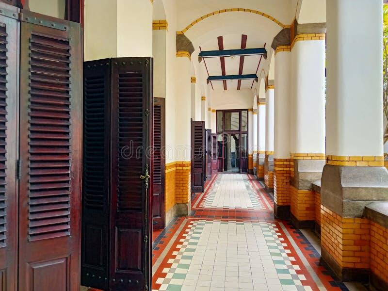 De oude Architectuur Historische Bouw in Semarang Lawang Sewu stock foto