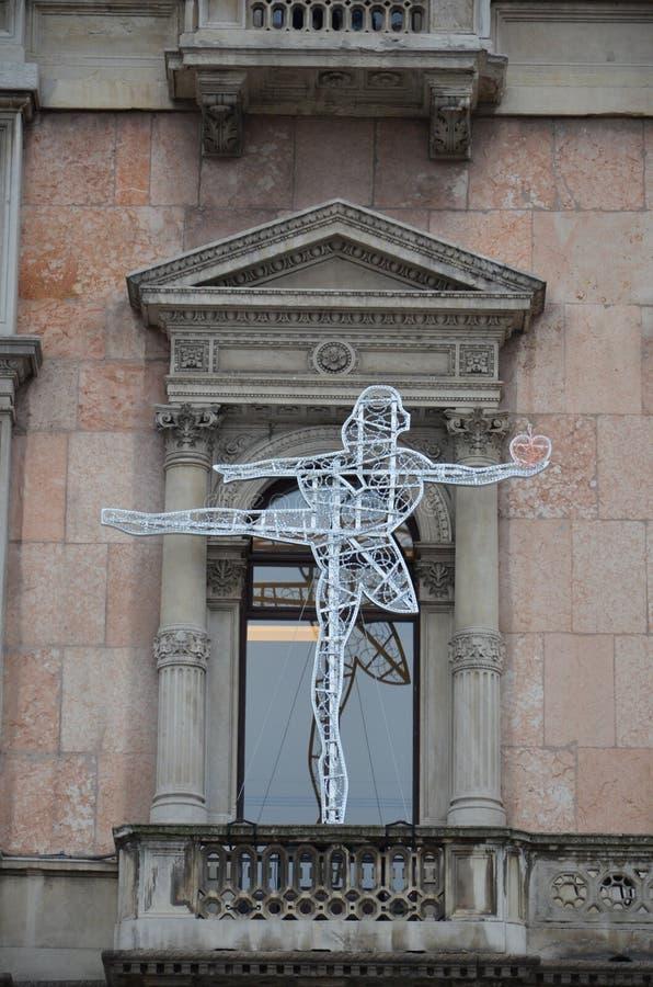 De oude architectuur in Milaan stock foto