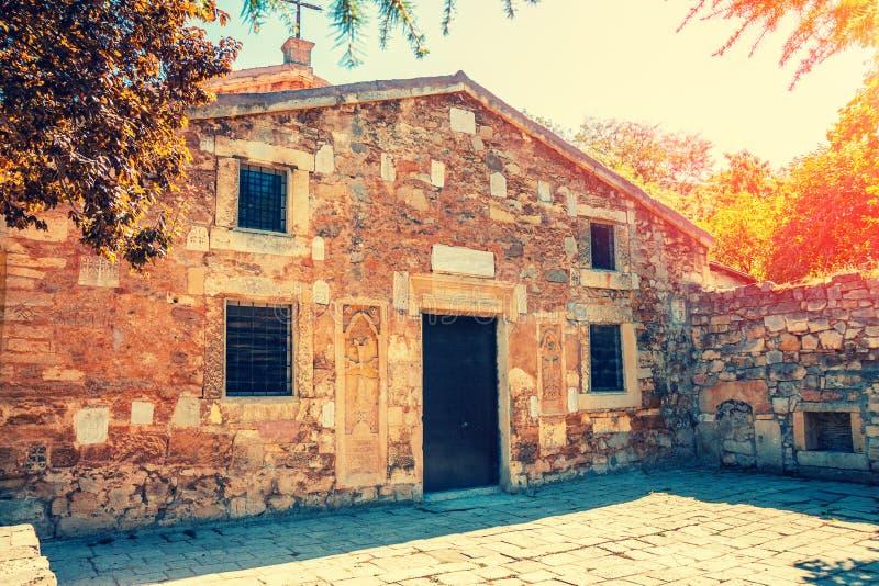 De Oude Armeense Kerk in Feodosia, de Krim stock afbeeldingen
