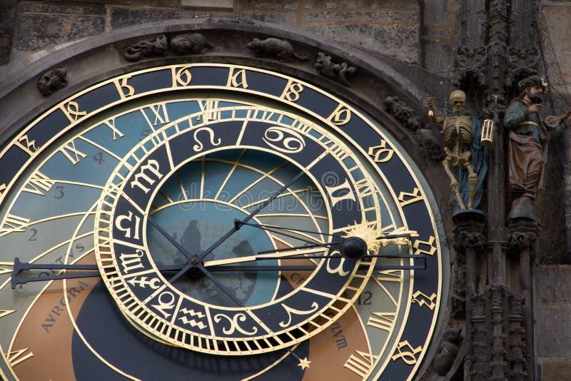 De oude astronomische Klok in Praag stock foto's
