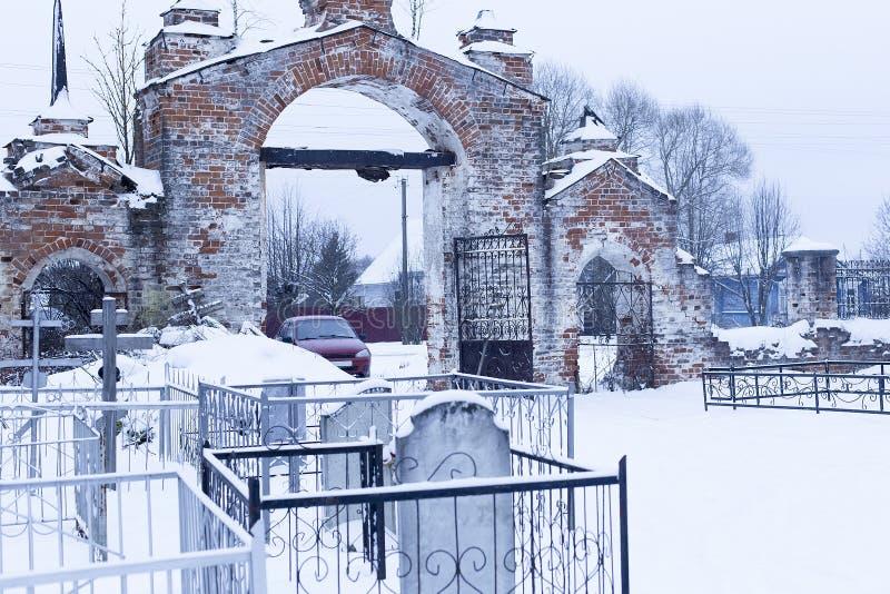 De oude begraafplaats royalty-vrije stock foto's