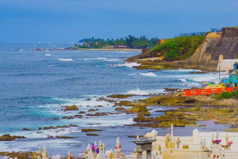 De oude Begraafplaats bij San Juan in Puerto Rico stock fotografie