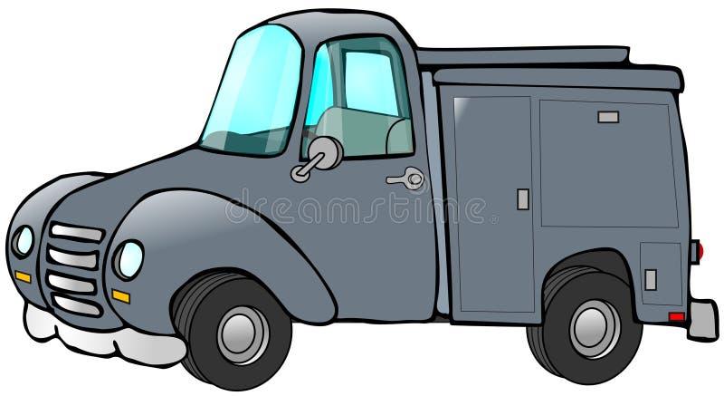 De oude Blauwe Vrachtwagen van het Werk vector illustratie