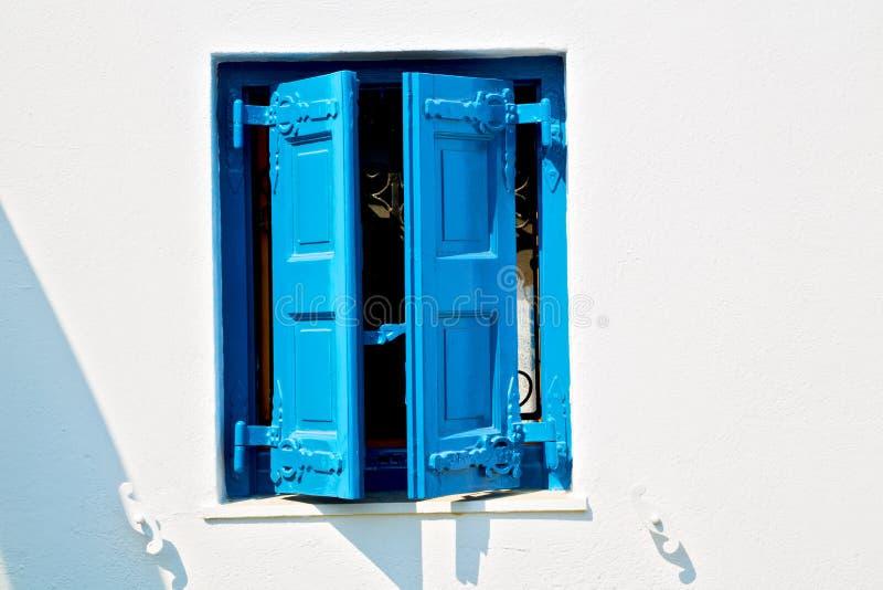 in de oude blinde muur van santorinieuropa Griekenland stock fotografie