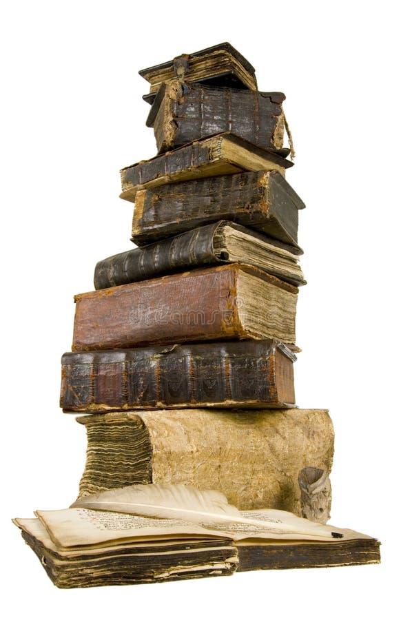 De oude boeken stock afbeeldingen