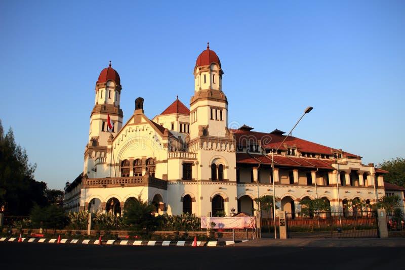 De oude bouw buiten in Indonesië royalty-vrije stock fotografie