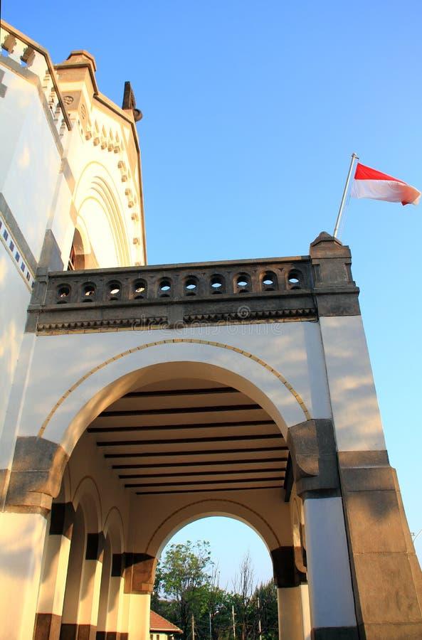 De oude bouw buiten in Indonesië royalty-vrije stock afbeelding