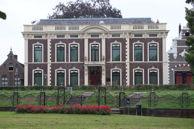 De oude bouw in Haastrecht die tegenwoordig museum Bisdom van Vliet als erfenis van de familie bisdom van vliet is die om gebruik stock afbeelding