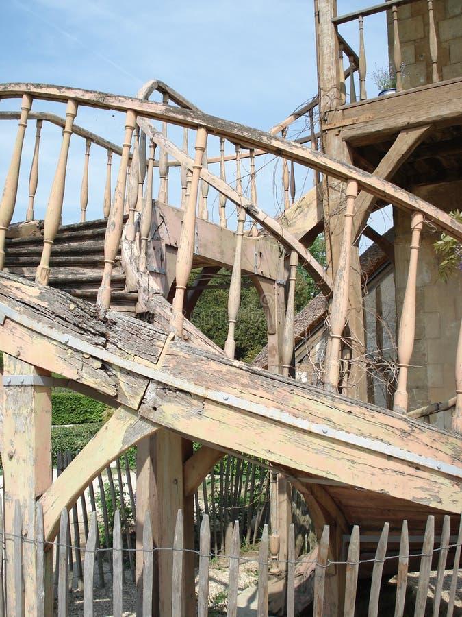 De oude bouw, het Gehucht van Marie Antionettes, Versaille stock afbeelding