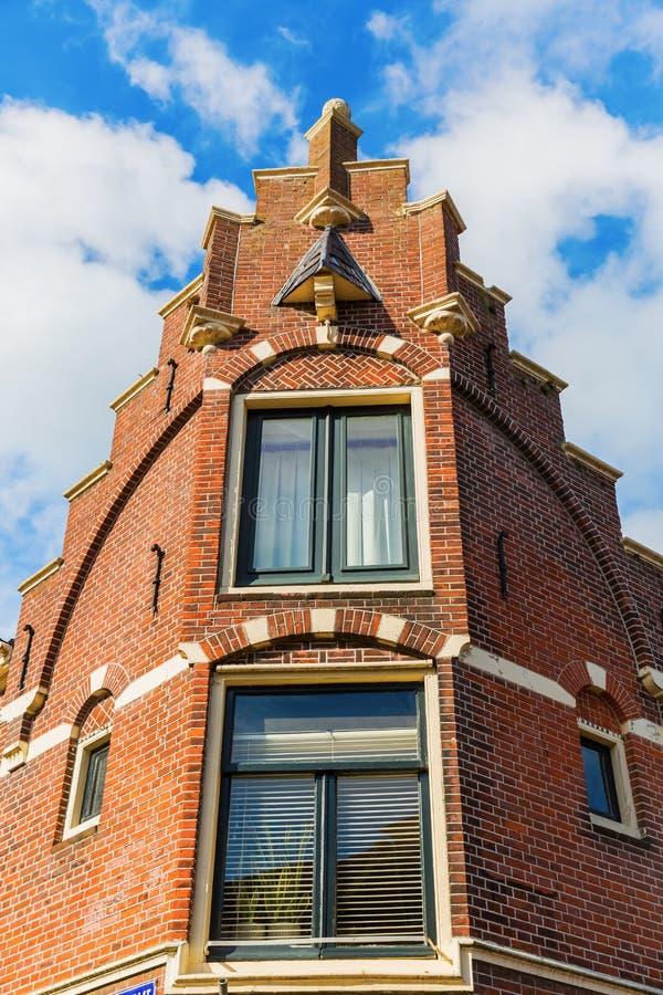 De oude bouw in Hoorn, Nederland stock afbeelding