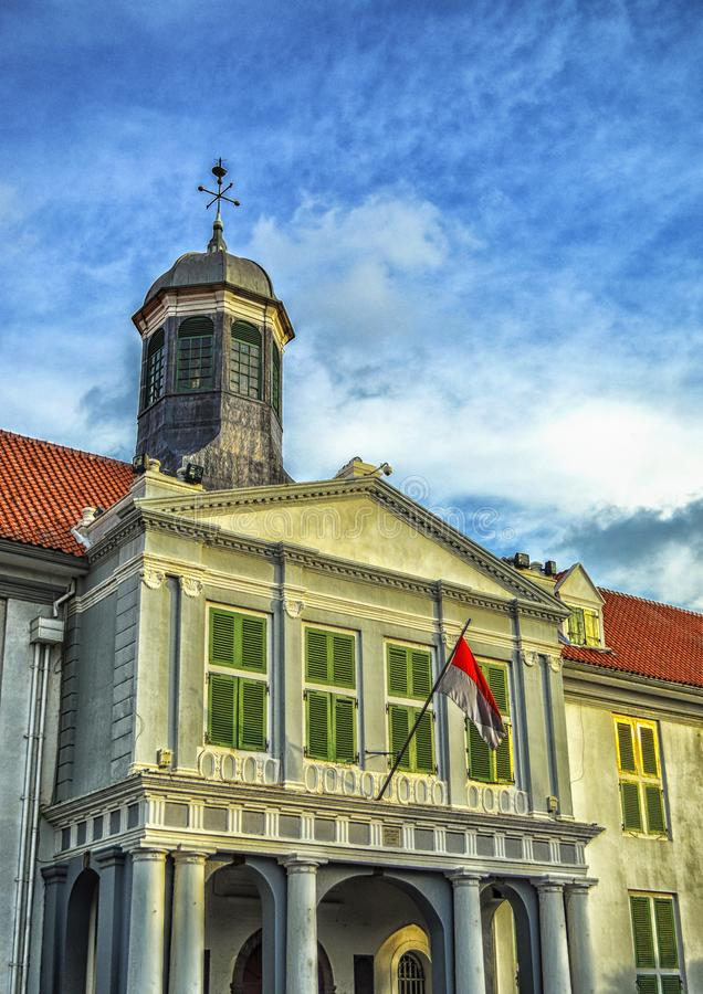 De oude bouw - Kota Tua, Djakarta, Indonesië royalty-vrije stock afbeelding