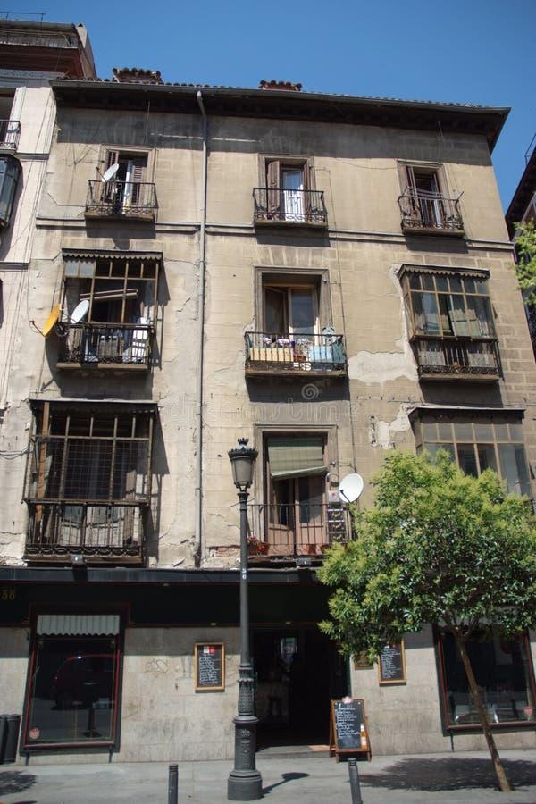De oude bouw in Madrid royalty-vrije stock afbeeldingen