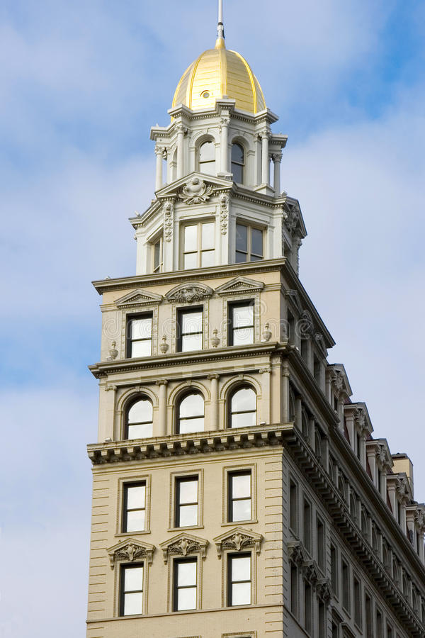 De oude bouw in NYC royalty-vrije stock afbeeldingen