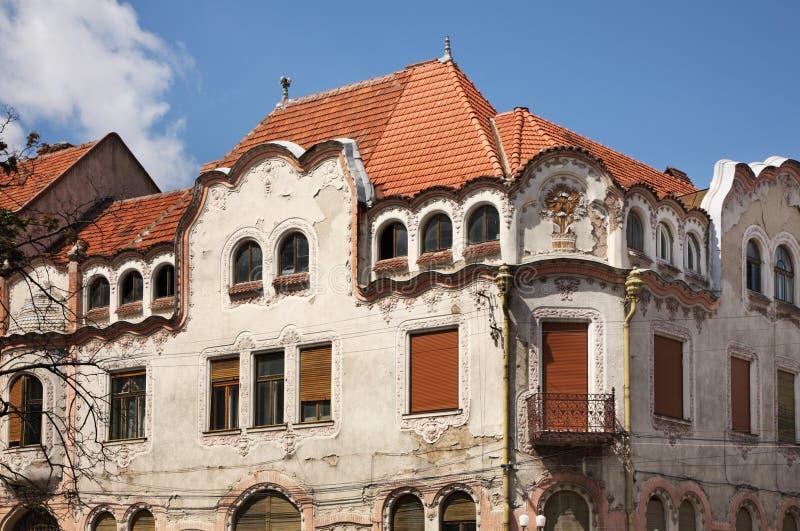 De oude bouw in Oradea roemenië stock foto's