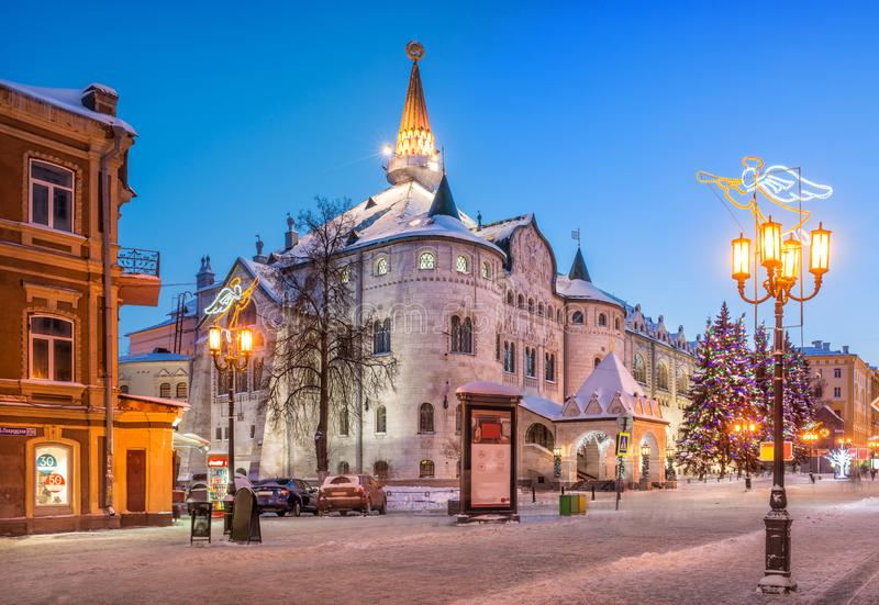 De oude bouw van de Bank van de Staat in Nizhny Novgorod stock foto
