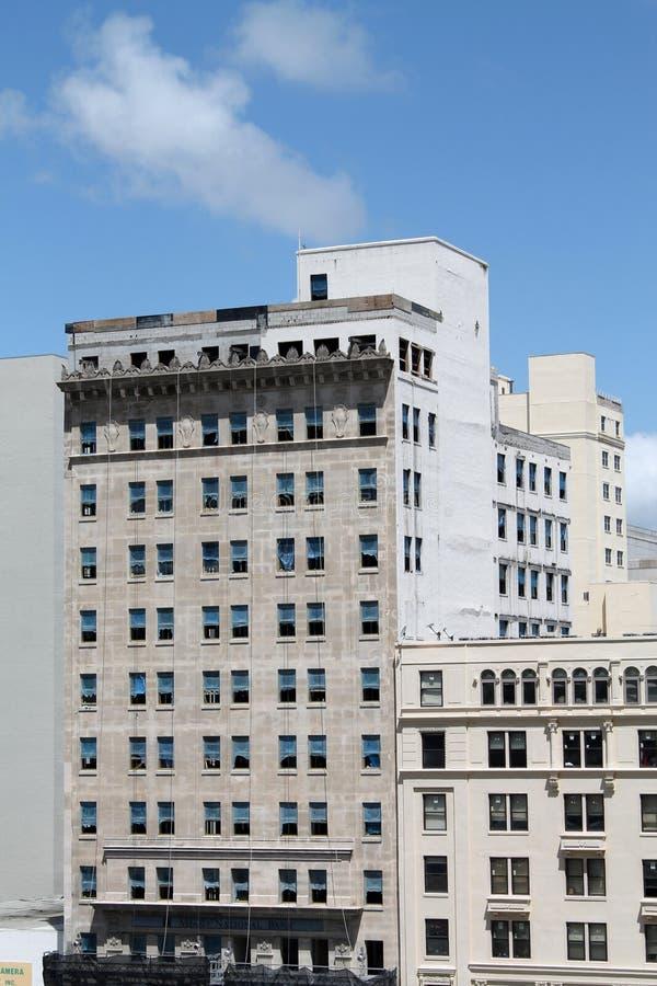 De oude bouw Van de binnenstad van Miami stock foto's